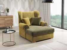 Sessel XXL Polster Fernseh Lounge Club Sofa Garnitur 1 Sitzer Neu Textil Gusto