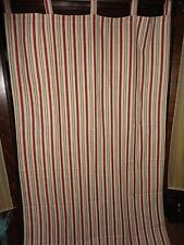 WAVERLY GENERAL STORE STRIPE RED CREAM (1) TAB TOP PANEL 100% COTTON 41 X 81