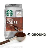 NEW SEALED STARBUCKS DECAF HOUSE BLEND MEDIUM GROUND COFFEE 12 OZ.
