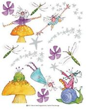 Fairy Pixie Dragonfly Toad Prince Mushroom Stickers Decal 4 Mirror Tile IdesStix