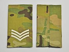 UK Forces  Rank  Sergeant Epaulette Sliders,  on MTP camouflage-SOLD IN PAIRS