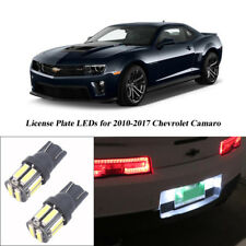 One pair White LED Bulb for 2010-2017 Chevy Chevrolet Camaro License Plate Light