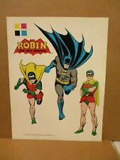 Batman & Robin ORIGINAL 1975 DC PROOF Color Character Model Art Page Pepsi Toys