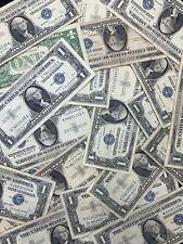 (1) Silver Certificates 1935 1957 $1 Blue One Dollar Bill Lot No Tear Circulated