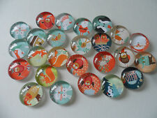 25 Cute Christmas Animals Cabochons / beads / charms 20mm for cards, tags