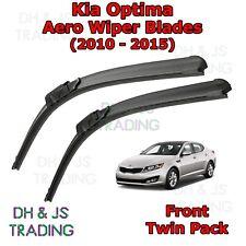 (10-15) Kia Optima Aero Wiper Blades / Front Windscreen Flat Blade Wipers