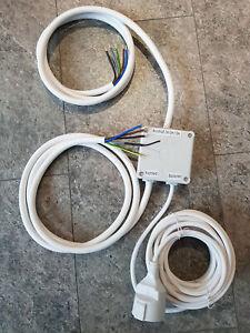 Power Splitter,Kochfeld und Backofen an 1 Herdanschluß 2-2-5m Powerbox schnell *