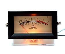 1pc SD-740 -B Panel VU Meter + Frame If=500uA 650Ω 12V Amber lamp SD FlashStar
