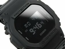CASIO G-Shock DW5600BB-1A All Matt Black Monotone Reverse LCD Very Limited !