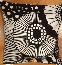 "Handmade HUGE Marimekko Siirtolapuutarha pillow cushion case, 24x24"", Finland"