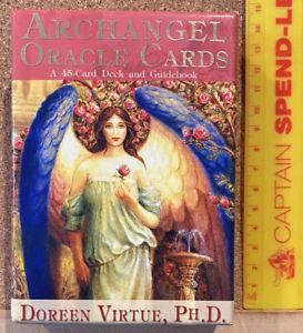 ORIGINAL 2004 ARCHANGEL ORACLE 45 CARD TAROT DECK + GUIDEBOOK DOREEN VIRTUE EXC!