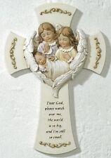 """""""Dear God, Please Watch Over Me"""" Baby w/ Angels Wall Cross, Roman 63152"""