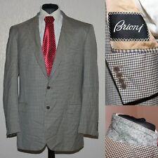 Amazing BRIONI Palatino Beige Check Wool Blazer Jacket 54IT 44US Made in Italy
