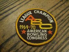 "Vintage American Bowling Congress League Champion 1969-70 Patch  3"" Diameter"