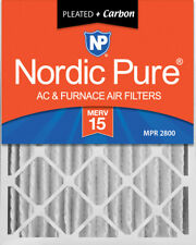 Nordic Pure 20x25x4 (3 5/8) Pleated Air Filters Merv 15 Plus Carbon 1 Pack