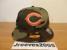 NWT New Era CHICAGO BEARS Woodland Camo Fitted Hat Sz 7 100% Authentic NFL
