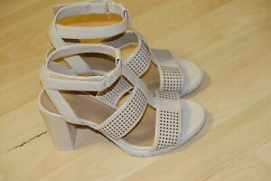 Clarks Nude Leather ankle strap sandals/heels 5/38 D RRP £70