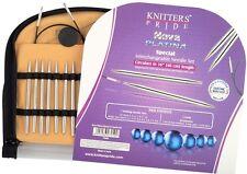 "Knitter's Pride Nova Platina Interchangeable Circular Needles - Special 16"" set"