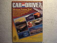 Car and Driver 1983 July Pontiac 6000STE Dodge 600ES Audi Datsun VW Saab Volvo