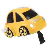 Yellow Plastic Wind-up Clockwork Racing Car Toy for Children F7E2