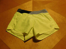 Danskin Now Size 7-8 Athletic Style Shorts Yellow/Gray