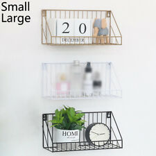 Iron Wall Mounted Shelf Holder Storage Rack Organizer Home Office Decor Tools