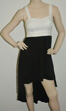 Knight Angel Black & White Strap Dress - Size: 8