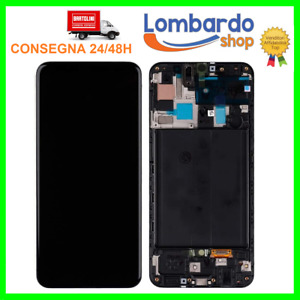 LCD DISPLAY OLED PER SAMSUNG GALAXY A50 SM-A505 A505F DS TOUCH SCREEN FRAME