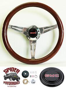 """1988-94 GMC Pickup Jimmy Suburban steering wheel 14 1/2"""" MAHOGANY"""