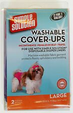 2pk Simple Solution Washable Dog Diapers Cover UPS Large Dogs Puppy Pink Purple