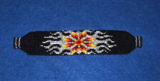 "Silver Sunburst Beaded Bracelet Magnetic clasp 7"" L  x 1.5"" wide"