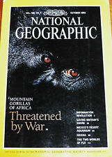 NATIONAL GEOGRAPHIC OCT 1995 BRITISH COAST GORILLAS CUATRO CIENEGAS GEISHA FIJI