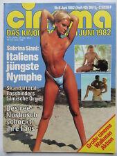 Cinema Nr 49,  6/1982, Sabrina Siani, Desiree Nosbusch, Corinne Clery, Spencer B