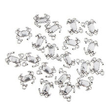 20pcs Sea Creature Crab Charms Loose Beads Pendant Craft for Necklace