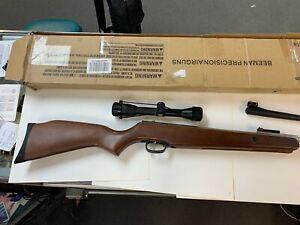 BEEMAN R1000 PELLET RIFLE TWO BARRELS PARTS SCOPE ORIGINAL BOX WONT SHOOT PARTS