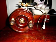 "Vintage 1940/50's ALVEY 7 1/2 inch Cedar  ""Y Backed"" Side Cast Fishing Reel"
