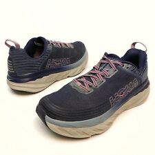 Hoka Bondi 6 Women's Running Shoes Sz 9.5 Eu42 Athletic Purple Rocker EuC