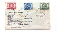 AUSTRALIA Cover 1946 100th Anniversary Discovery Pastoral Lands - To England 3 v
