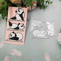 Yoga Panda Metal Cutting Dies Stencil DIY Scrapbooking Embossing Album Cards