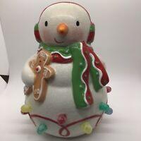 Hallmark Ceramic Snowman Christmas Musical Light-up Gumdrop Christmas Song