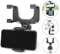 360° Car Rearview Mirror Mount Holder Stand Cradle For Universal Cell Phone GPS