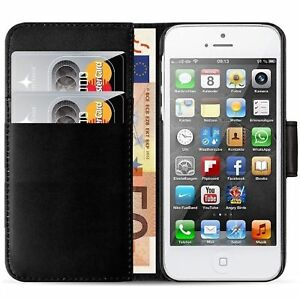 Case Cover For Apple iphone 4 4s magnetic Flip Leather Wallet Card Holder book