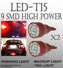 4 pieces T15 LED Hyper Red Rear Parking Light Lamps Auto Truck Replacement E143