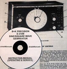 Manual for B+K PRECISION E-310B Sine/Square Wave Generator Ops+Service+Schematic