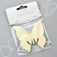 Ivory Butterfly Wedding or Dining Place Cards For Glasses Table Decoration