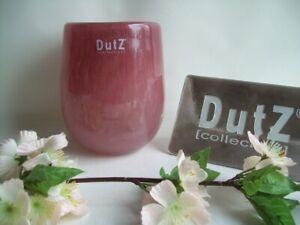 Dutz Collection Vase Cranberry barrel rot 13 cm Glas mundgeblasen rund Pot