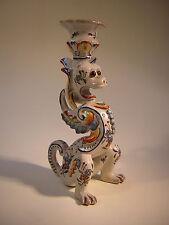 Jugendstil Keramik Leuchter Drache handbemalt Frankreich Nancy Emile Galle´