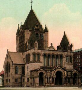 Vintage Postcard - Un-Posted Trinity Church Boston Massachusetts #8264