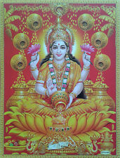 Lakshmi Maa, Gold Coin Kalash - POSTER (Normal Paper, 8.5 x 11 Inches)