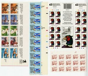 MINT:1990s Mixed Bag  6 BLs 20¢/25¢ Stamps: (55) Scott#2179/2496-2500/2507/3050